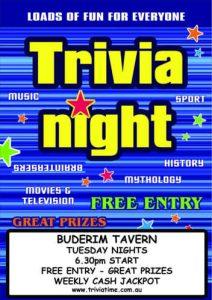 Buderim Tavern - Sunshine Coast Wednesday Trivia @ Buderim Tavern | Buderim | Queensland | Australia