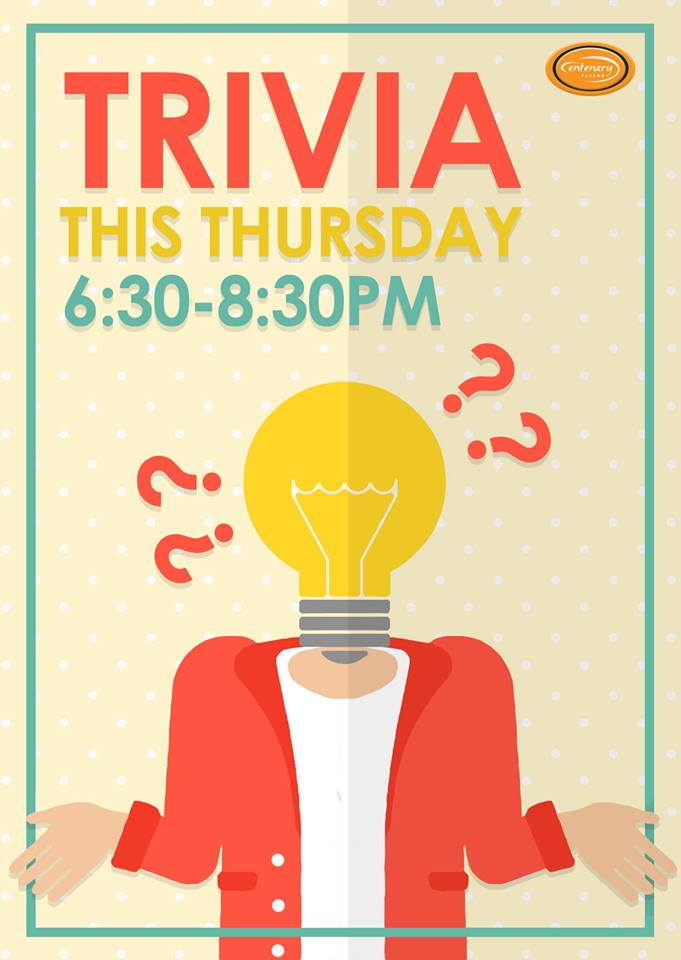 Middle Park Trivia - Thursday - 6:30pm @ Centenary Tavern | Sumner | Queensland | Australia