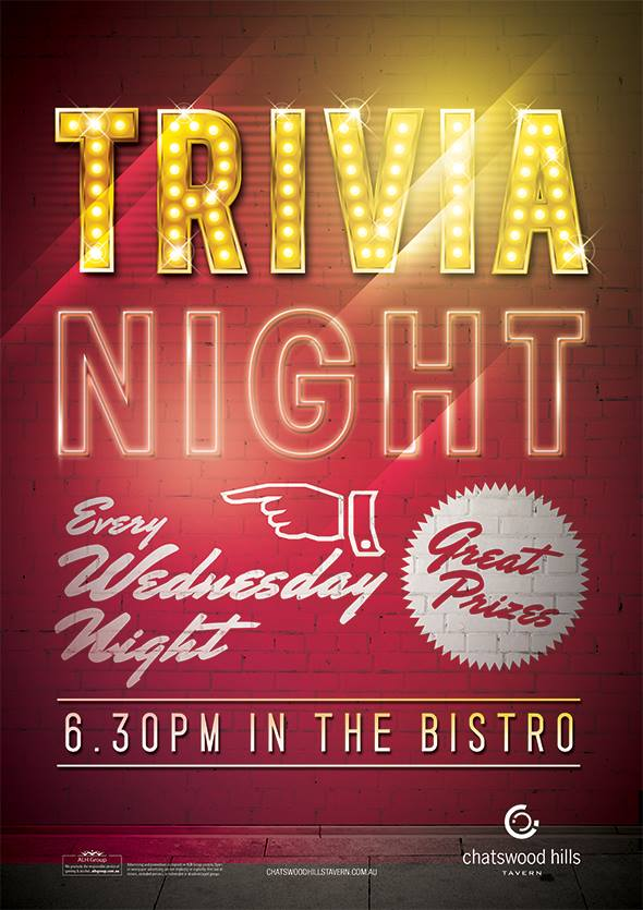 Chatswood Hills Trivia - Wednesday - 6:30pm @ Chatswood Hills Tavern | Springwood | Queensland | Australia