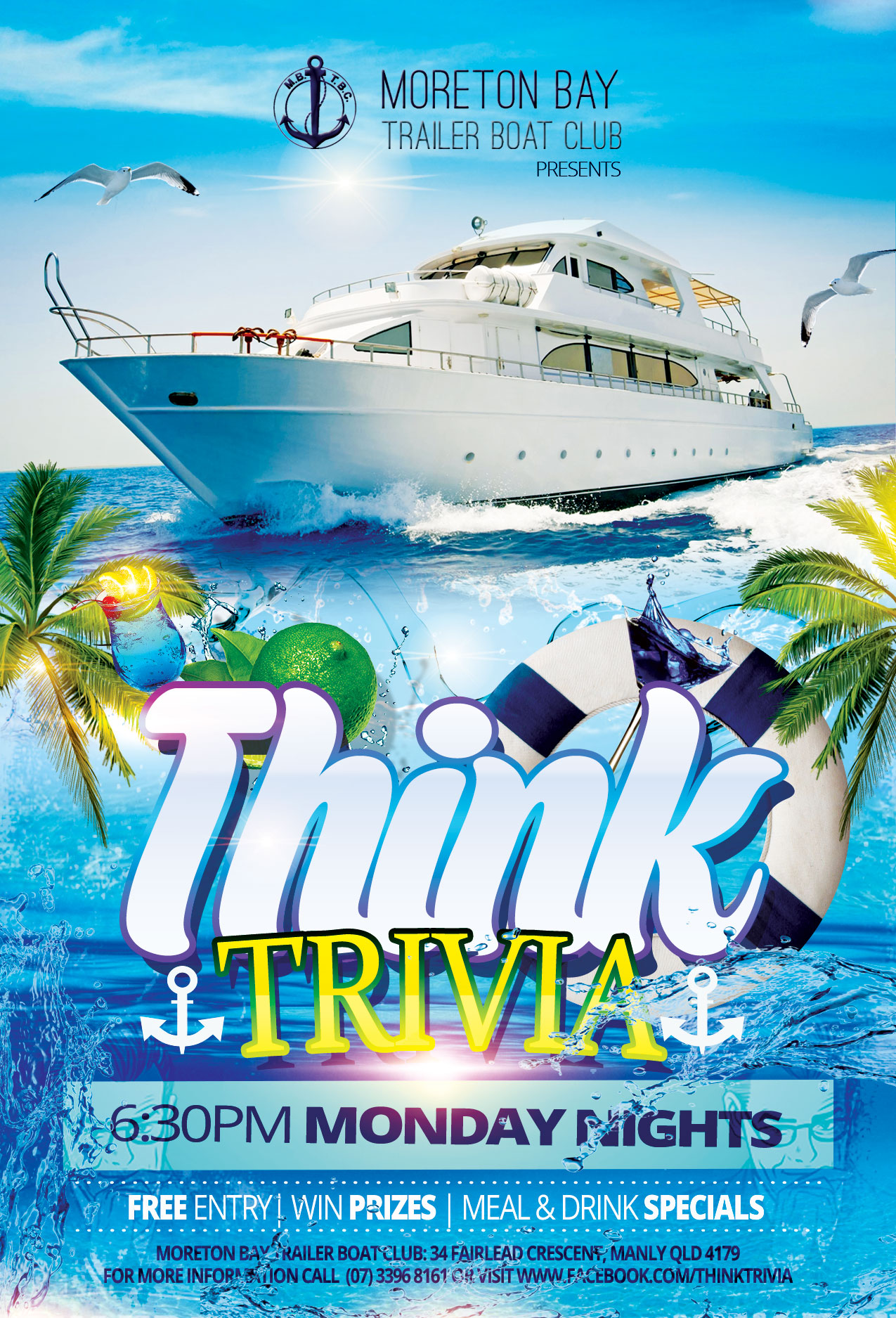Moreton Bay Trailer Boat Club - Trivia Monday Night @ Moreton Bay Trailer Boat Club | Manly | Queensland | Australia