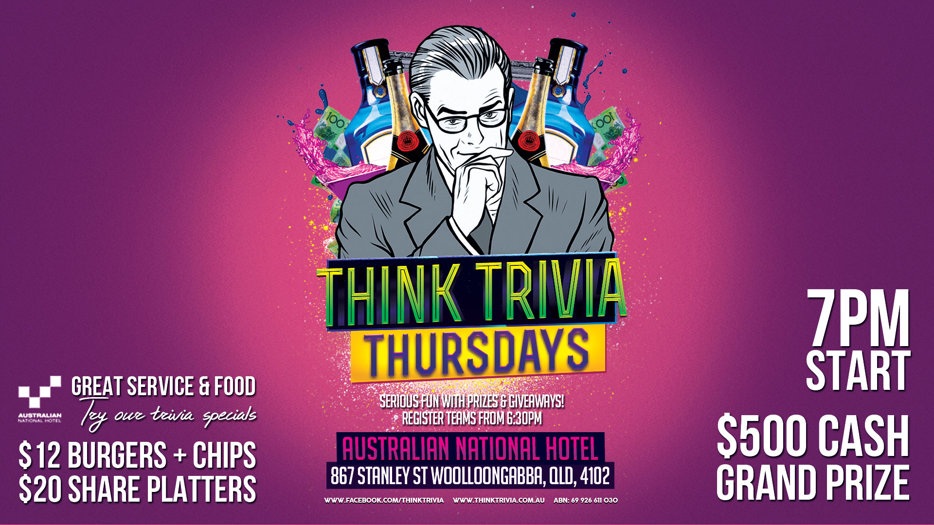 Australian National Hotel - Woolloongabba - Thursday Trivia @ Australian National Hotel | Woolloongabba | Queensland | Australia