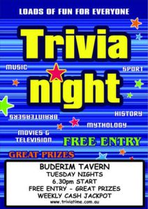 Buderim Tavern - Sunshine Coast Wednesday Trivia @ Buderim Tavern | Buderim | Queensland | Australia