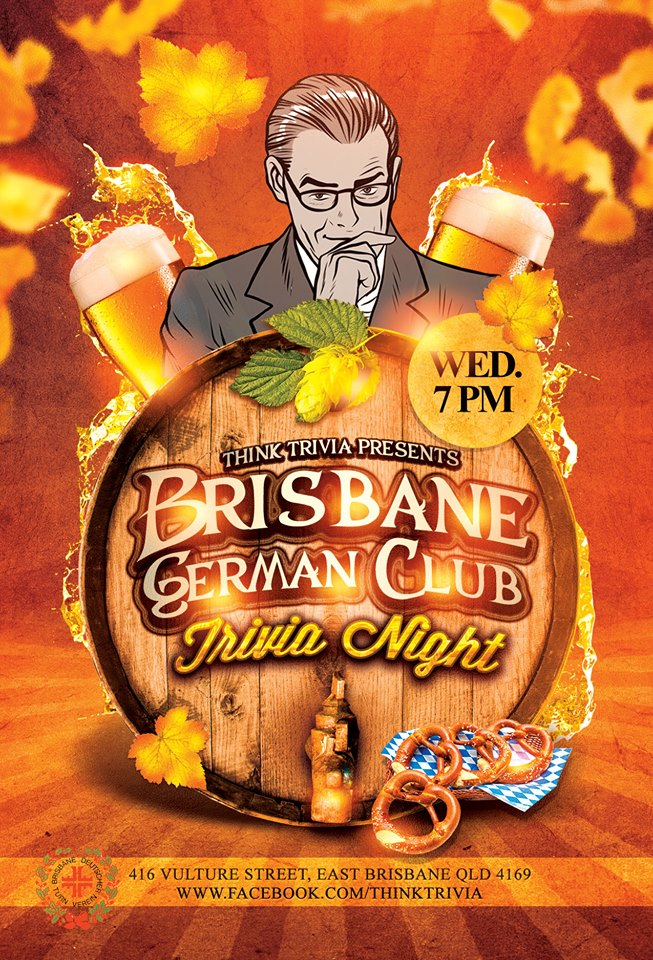Brisbane German Club Trivia Wednesday @ Brisbane German Club | Kangaroo Point | Queensland | Australia