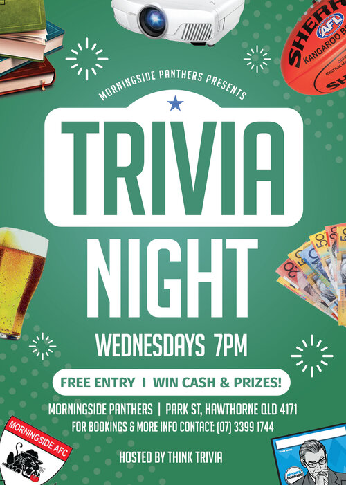 Morningside Panthers Trivia - Wednesdays 7pm @ Morningside Panthers | Hawthorne | Queensland | Australia