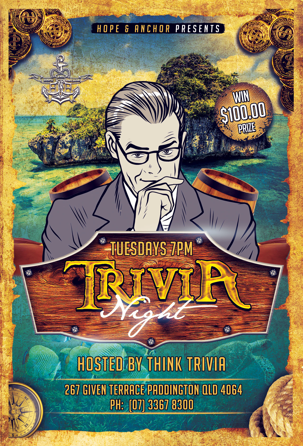 Hope and Anchor - Paddington - Tuesday Trivia @ Hope and Anchor | Paddington | Queensland | Australia