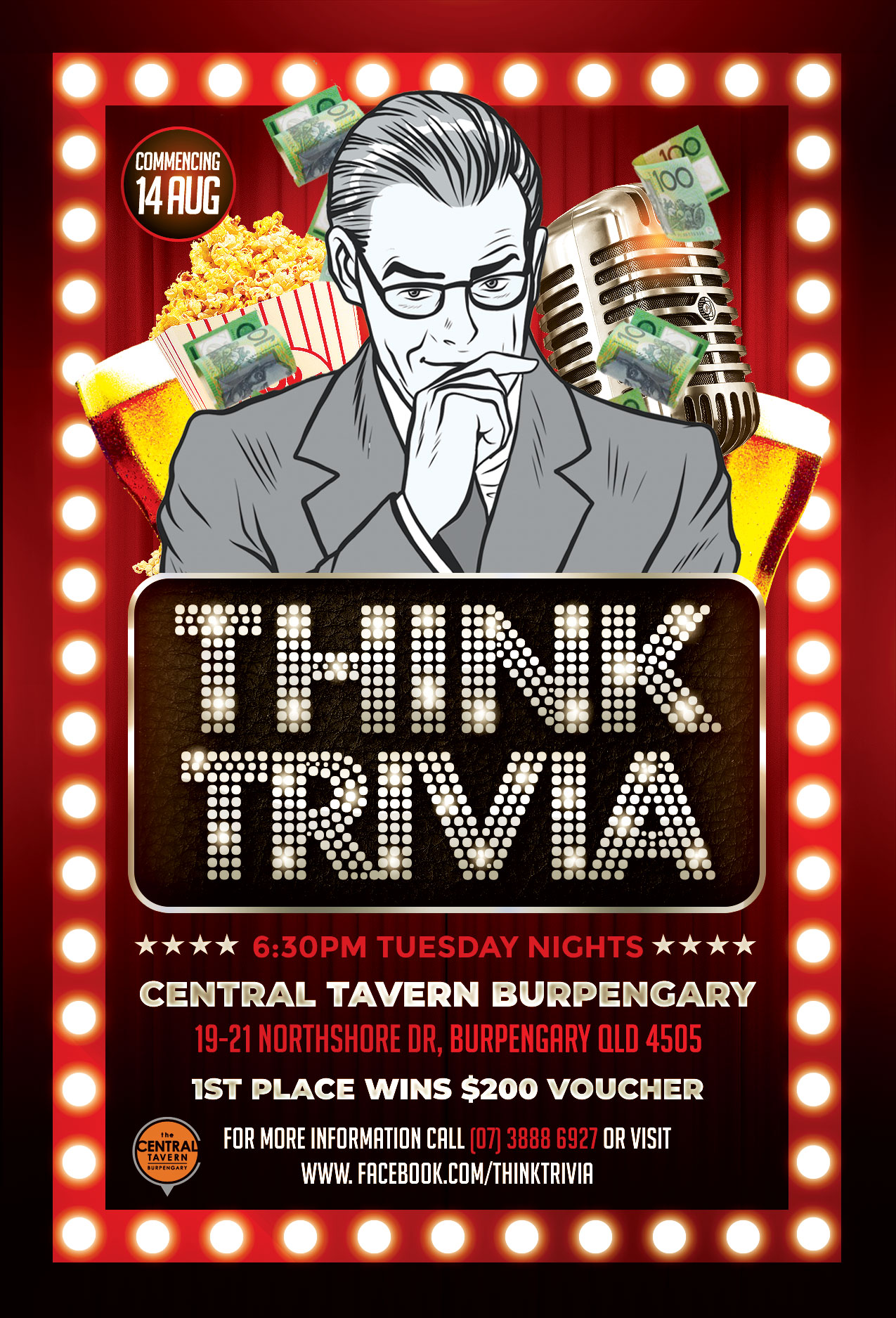 Central Tavern Burpengary - Tuesday Night Trivia @ Central Tavern Burpengary | Burpengary | Queensland | Australia